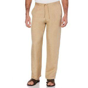 Cubavera Linen-Blend Beach Wide Leg Mens Pants